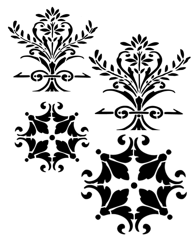 Paris Elements 1 stencil