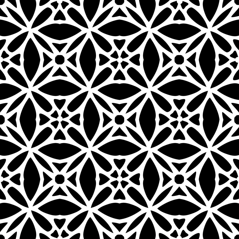 Modern Pattern 3 12x12 stencil