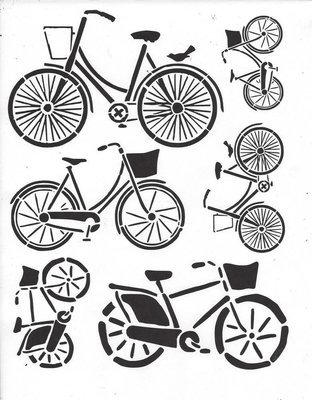 Bicycle 55 Stencil