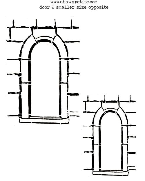 Door 2 smaller inverted stencil