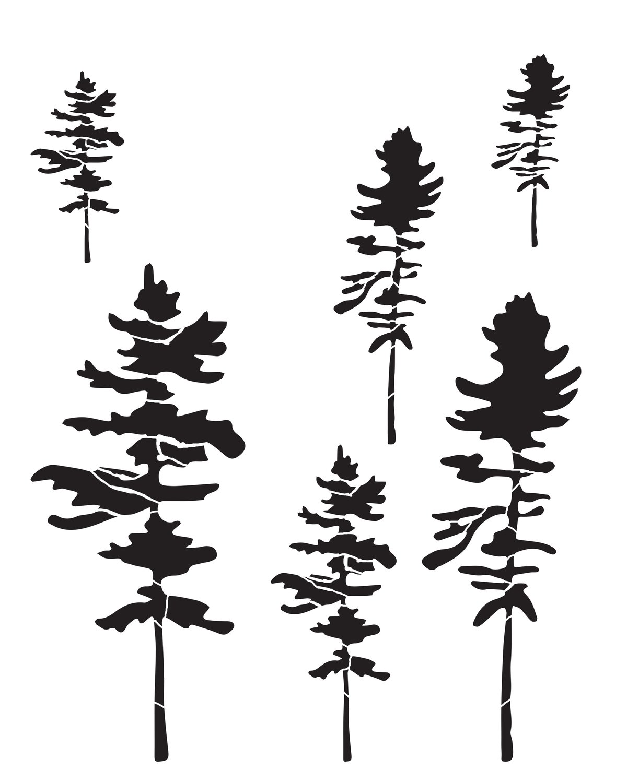 Trees 2 stencil