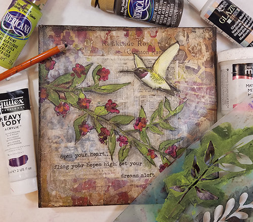 Hummingbird collage pak for Sunday Inspiration 7-23-17 instant download 7 pages