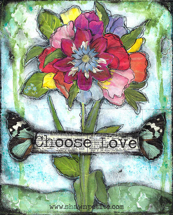 """""""Choose Love"""" Print on Wood and Print to be Framed"""