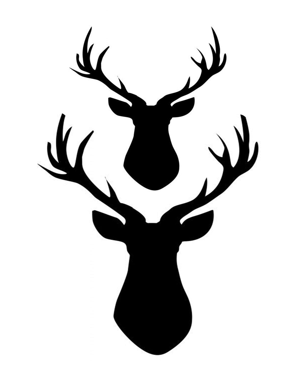 2 Deer stencil