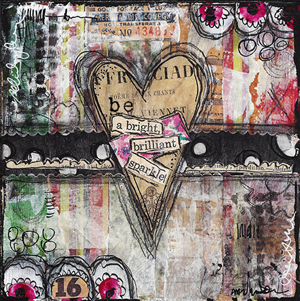 """Heart Series """"Bright Brilliant Sparkle"""" Print on Wood and Print to be Framed"""