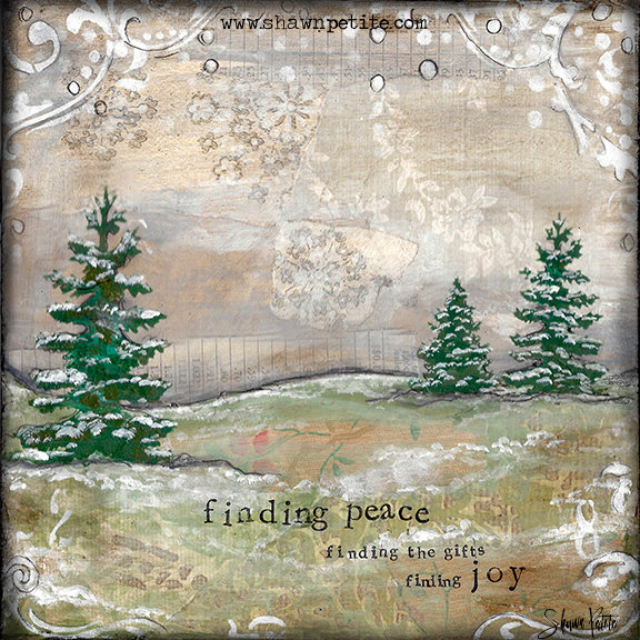 """""""Finding Peace, Finding the gifts, finding Joy"""" Print on Wood and Print to be Framed"""