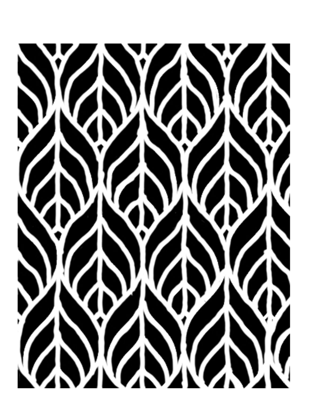Geometric leaves stencil