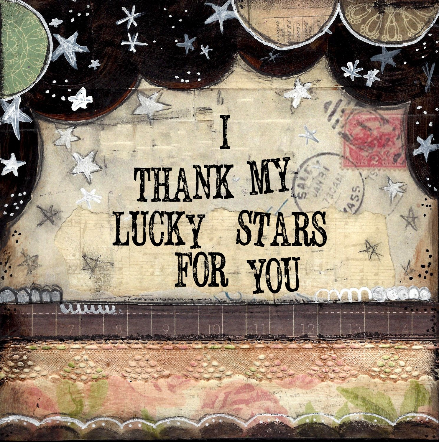 """""""I thank my lucky starts for You"""" Print on Wood and Print to be Framed"""