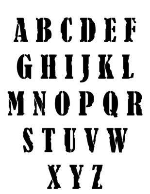 Grunge font stencil