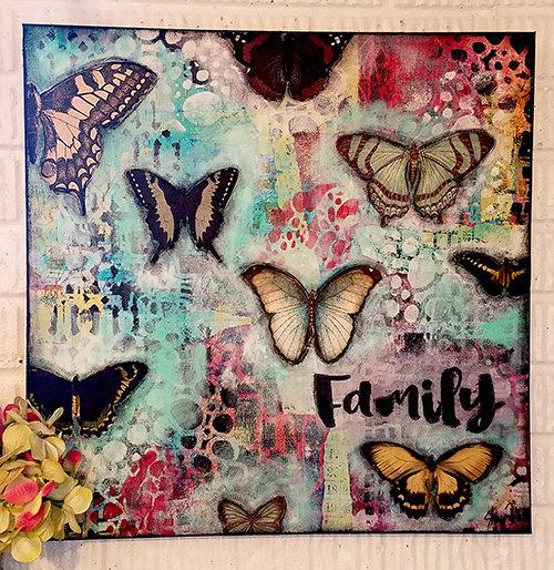 """Family"" 20x20 gallery depth original on canvas"