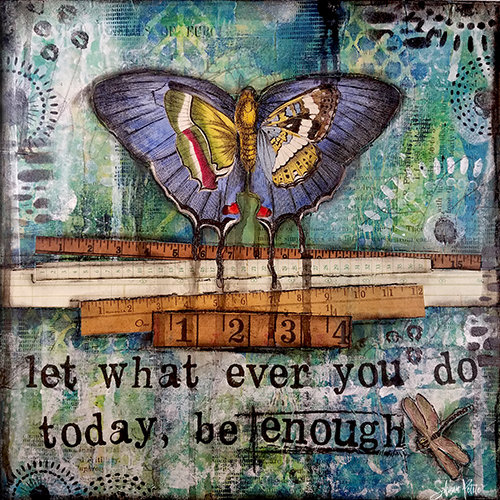 """""""Let whatever you do be Enough"""" Print on Wood and Print to be Framed"""