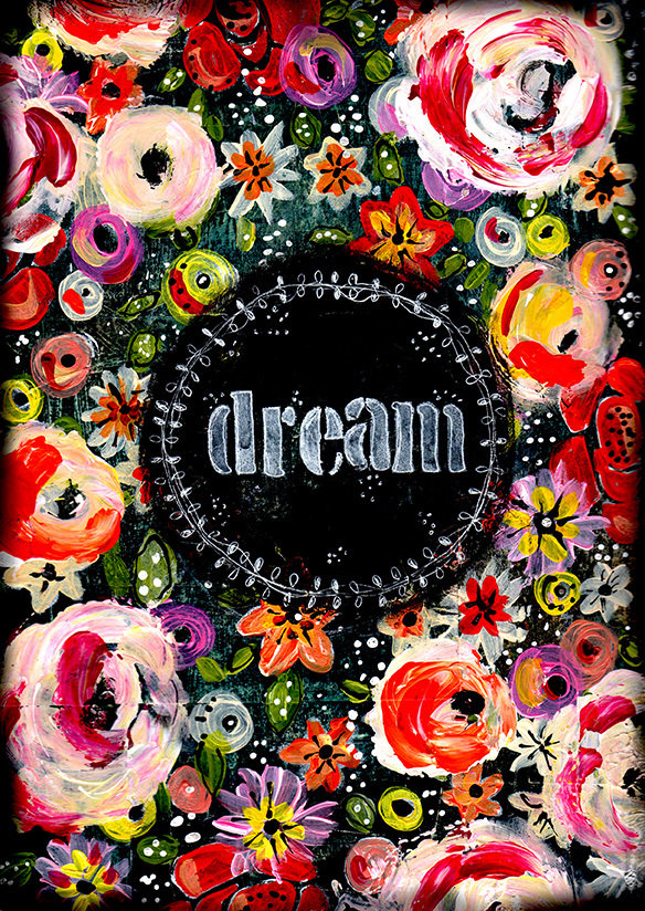 """""""Dream"""" Print on Wood and Print to be Framed"""