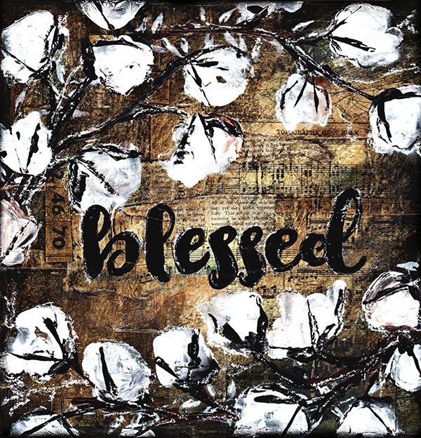 """Blessed"" rustic cotton, Print on Wood and Print to be Framed"