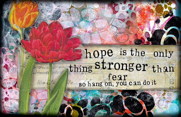"""""""Hope is the thing stronger than Fear"""" Print on Wood and Print to be Framed"""
