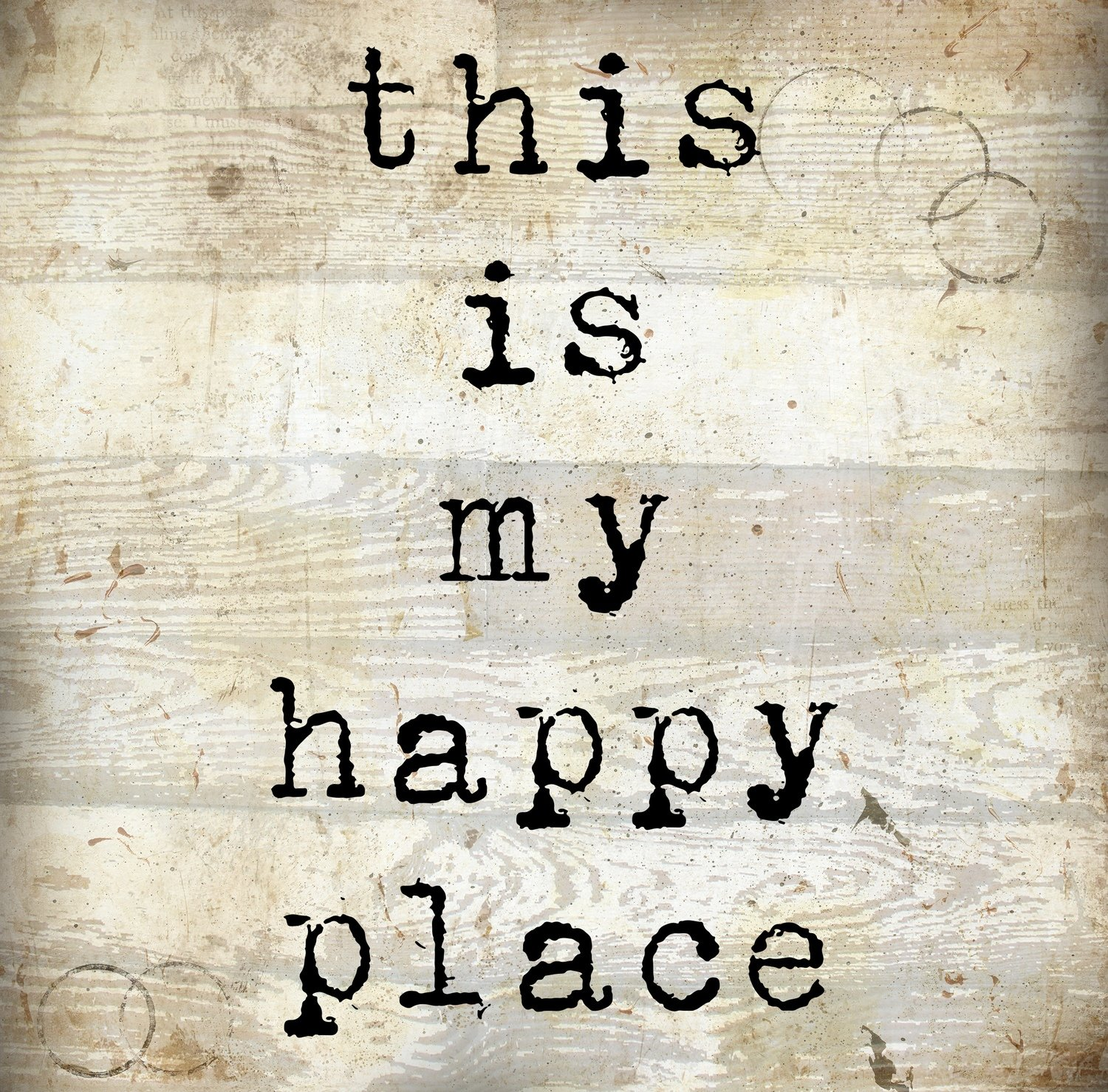 """""""This is my Happy Place"""" Print on Wood and Print to be Framed"""