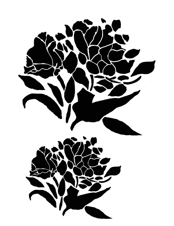 Flower silhouette 4 stencil