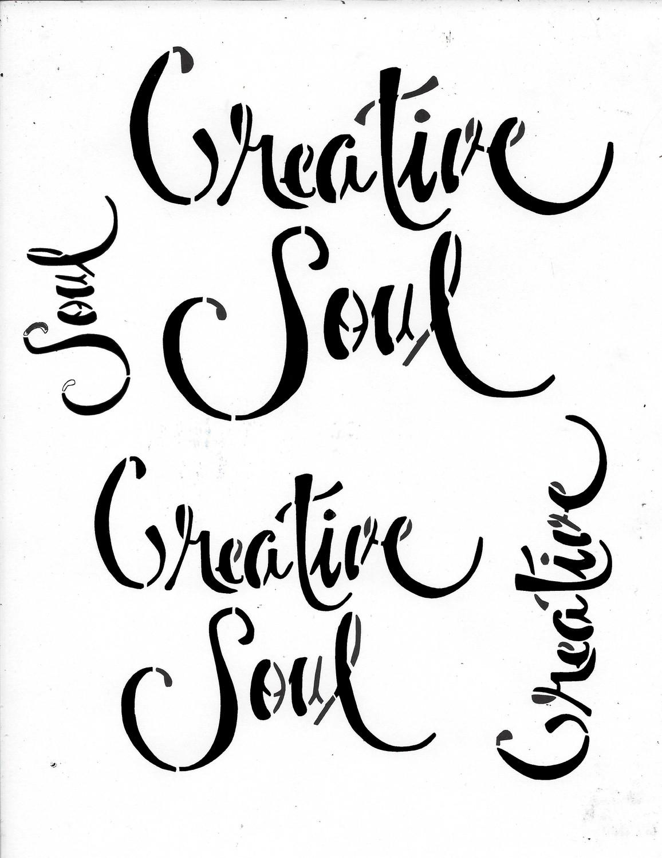 Creative Soul Stencil