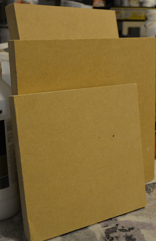 Mdf wood panel 4x4 or 4x6 pack of 4