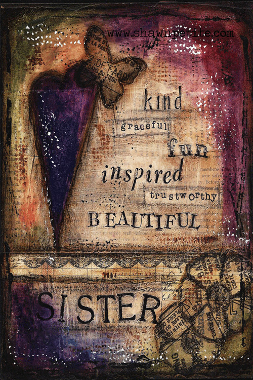 """Beautiful Sister"" Print on Wood and Print to be Framed"