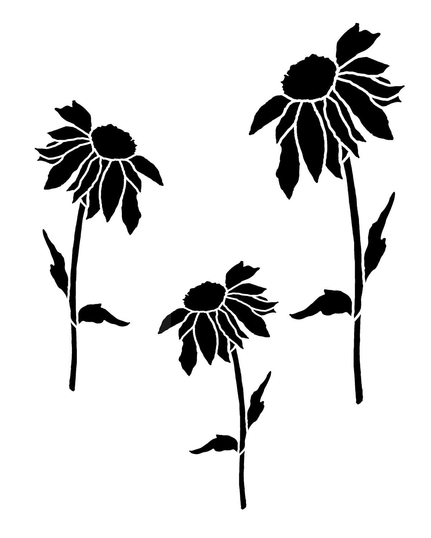 Daisy 1 stencil 12x16