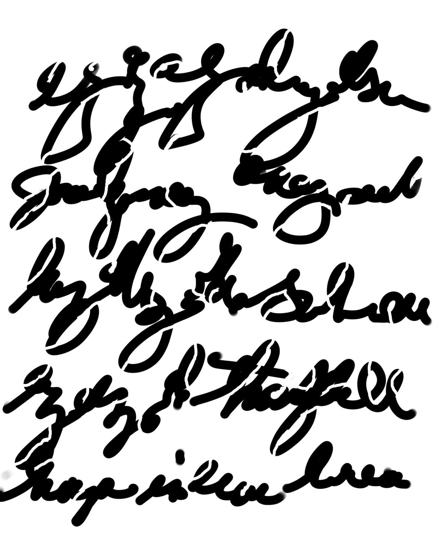 Scribble Writing stencil