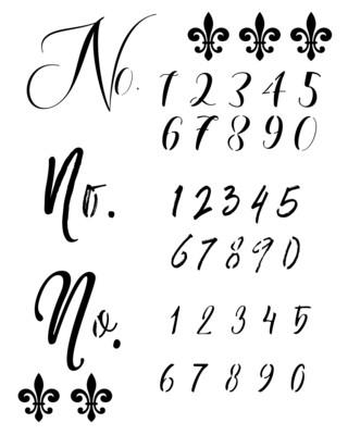 Fancy Numbers stencil