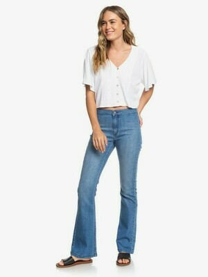 Roxy Hanging Moon Cropped V-Neck Top