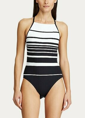 Lauren Gradient Stripe High Neck 1pc