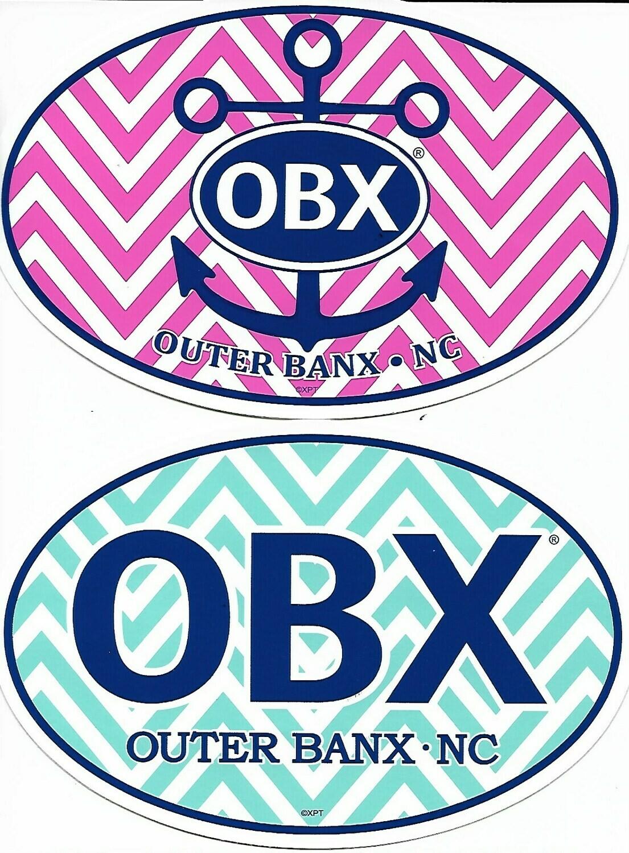 OBX Chevron Sticker