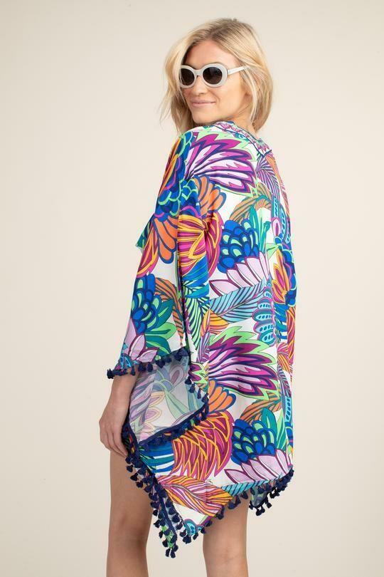 Trina Turk Paradise Plume Kimono