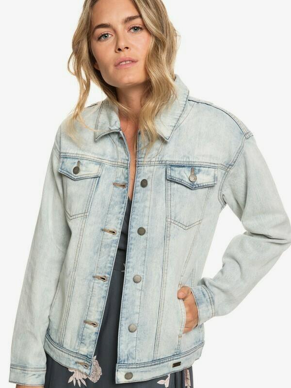 Roxy Denim Midnight Drive Boyfriend Jacket