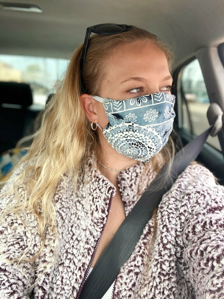 Lotus And Luna Adult Pleated Style Face Mask- ASSORTED COLORS AS AVAILABLE