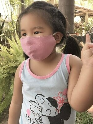 Lotus And Luna Children's Cotton Wide Face Mask With Filter Slip- ASSORTED COLORS AS AVAILABLE- SEE OPTIONS