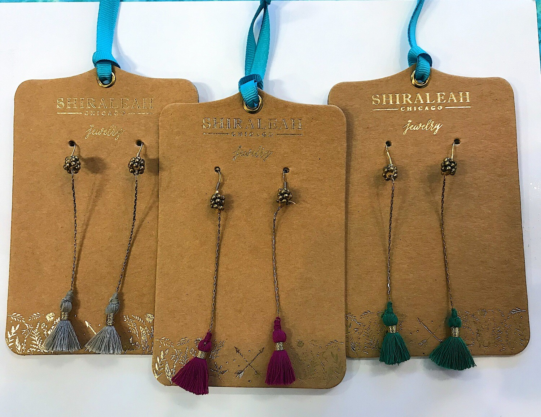 Shiraleah Long Tassel Earrings