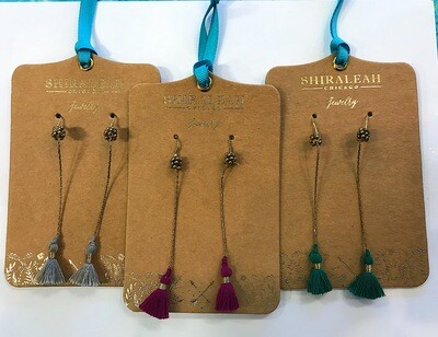 Shiraleah Long Tassel Earrings