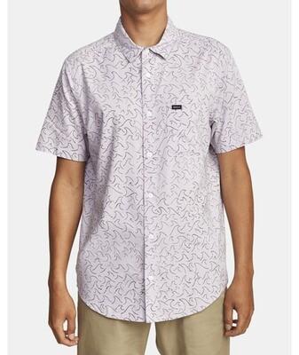 RVCA Oblow Waves Short Sleeve Shirt
