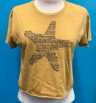 OBX Starfish Towns Cropped Tee