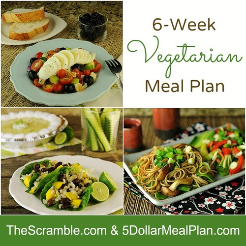 6 Week Vegetarian Meal Plan