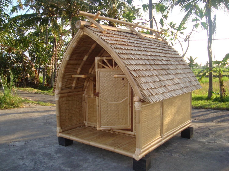 Cabane de jardin en bambou