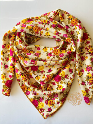 Autumn Roses Ladies Cowboy Wild Rag