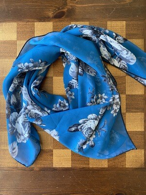 "Teal Dreams 36"" Floral Scarf"