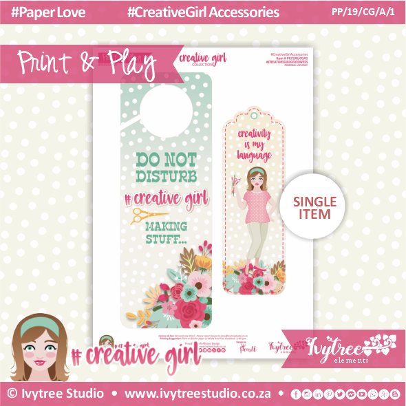 19/CG/A/1 - #Creativegirl ACCESORIES - Door hanger and Bookmark