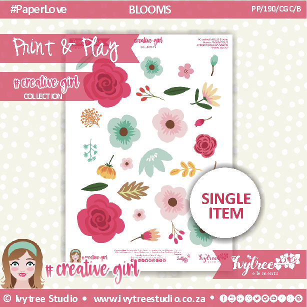 PP/190/CGC/B - Print&Play - FLOWER SHOP - BLOOMS - Creative Girl Collection