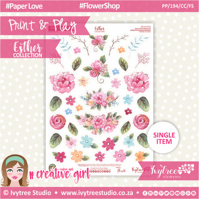PP/194/CC/FS - Print&Play - CUTE CUTS - Flower Shop - Esther Collection