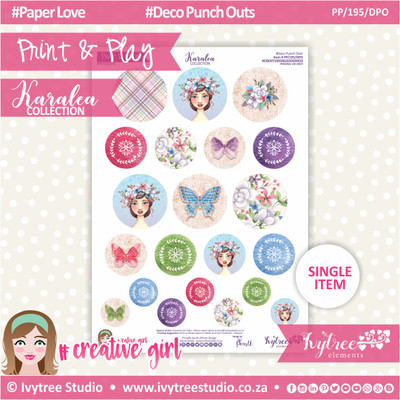 PP/195/DPO - Print&Play - Deco Punch Outs - Karalea Collection