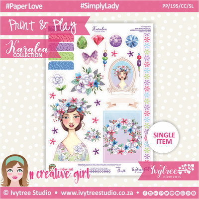 PP/195/CC/SL - Print&Play - CUTE CUTS - Simply Lady - Karalea Collection