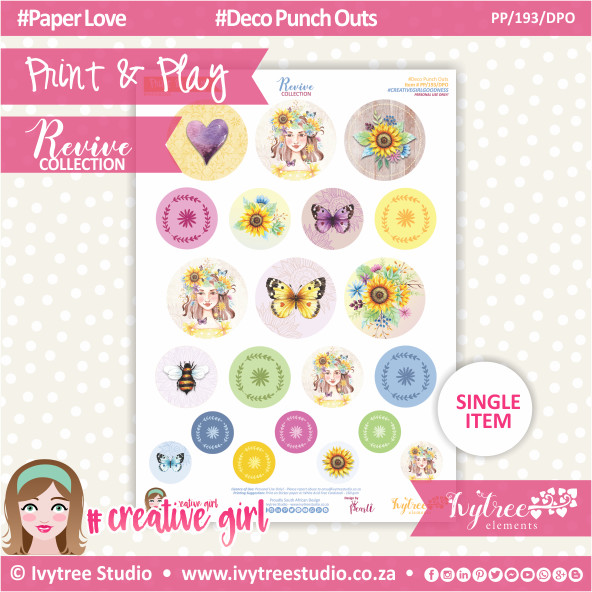 PP/193/DPO - Print&Play - Deco Punch Outs - Revive Collection