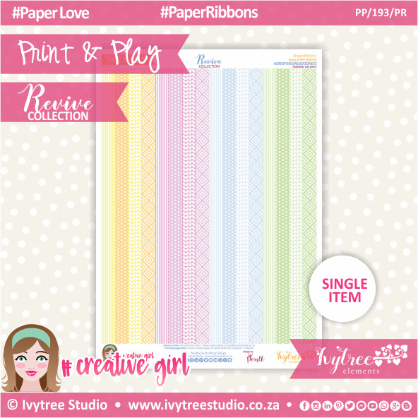 PP/193/PR - Print&Play - Paper Ribbons - Revive Collection