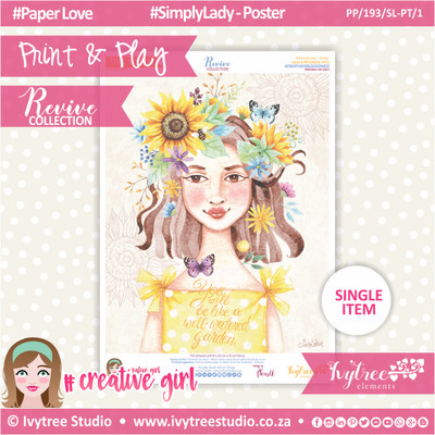 PP/193/SL-PT/1 - Print&Play - Simply Lady Poster - Revive Collection