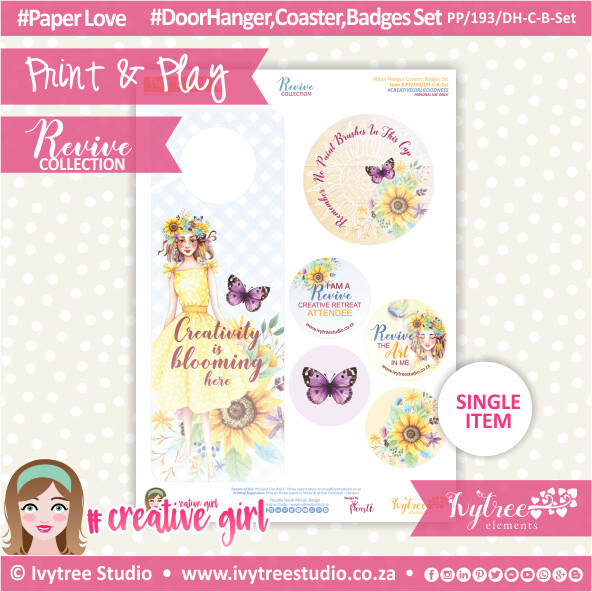 PP/193/DH-C-B-Set - Print&Play - Doorhanger-Coaster-Badges Set - Revive Collection